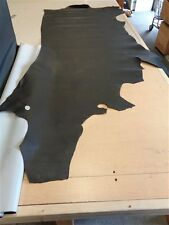 "LEATHER HIDE BLACK ANIMAL PRINT 104 1/2"" X 47"""