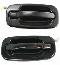 NEW Rear Outside Door Handles Set Smooth Black for 99-06 Silverado Tahoe Sierra