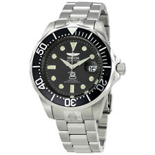 Invicta Grand Diver Black Diver Stainless Steel Mens Watch 3044