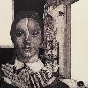 IVAN RUSACHEK, Art Print, Original Hand Signed Etching, Ex Libris Bookplate,2021