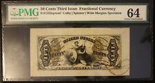 1863 50 Cent Fifty Cents Fractional Note Third Issue Specimen Colby/Spinner 64CU