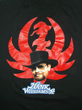 Vtg early 90's Hank Williams Jr t-shirt Nbw Xl Black Cotton Country Outlaw