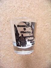 Durango & Silverton Narrow Gauge Railroad shotglass shot glass round Colorado