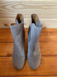 Dr Scholl's Grey Suede Heeled Ankle Boots Size 6/39