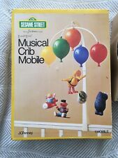 VINTAGE Sesame Street Toddletime Musical Crib Mobile JCPenney Complete/Box 1977