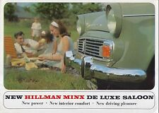 Hillman Minx De Luxe Saloon 1725cc Original UK Sales Brochure No. 1202/H c.1965