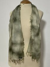 FALIERO SARTI GREEN SCARF CASHMERE BLEND SOLID 54''/20'' EXCELLENT CONDITION
