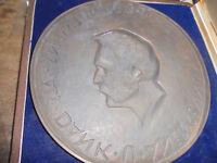 A Plakette Medallie Bronze Siemens Dank und Anerkennung A. klingler 19cm Box