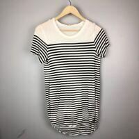 Wilfred Women's Size Small Striped Split Hem Short Sleeve Tee Top