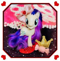 ❤️My Little Pony Movie All About Sweetie Drops Cream w/ Purple Hair RARE HTF❤️