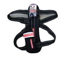Large L Black : EZYDOG H09LR Ezy Dog Chest Plate Harness & Car Seat Belt Loop