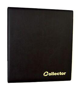 BLACK COIN ALBUM FOR 200 COINS 50p £1 £2 pound COIN FOLDER Collector /2