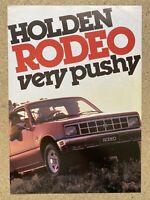 1984 Holden Rodeo original New Zealand sales brochure