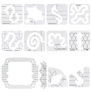Domestic Machines Using Quilting Templates Template Rulers Sewing Free-Motion