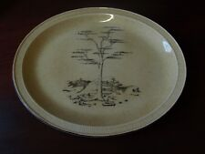 POOLE POTTERY 13 1/4'' OVAL SERVING DISH. TREE DECOR