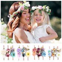 3PCS Girlande Blumenkranz Baby-Kopfbedeckung Rosen-Haar-Band Blumen-Stirnband