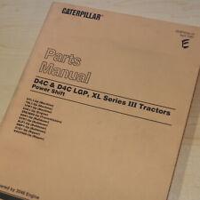 CAT Caterpillar D4C Series III 3 LGP XL Tractor Dozer Crawler Parts Manual Book