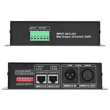 DMX 512 Controller Decoder 3 Kanal*4A Dimmer LED RGB Stripe Lampe Light Schwarz