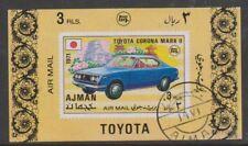 Ajman - 1971,3R aérien - Toyota Corona MKII voiture feuille - CTO