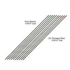 "WeldingCity® TIG Welding Tungsten 5-pk Thoriated 2% & 5-pk Pure 1/16""x7"" | USA"
