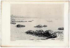 """Jean PATRICOT """"Au Cap d'Antibes"""" 1901 Eau-forte Gazette des Beaux-Arts"""