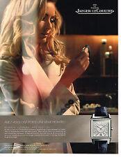 PUBLICITE ADVERTISING 094  2009  JAEGER-LECOULTRE  montre REVERSO SQUADRA LADY