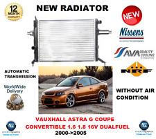 pour OPEL ASTRA G Coupé Cabriolet 1.6 1.8 16V DUALFUEL 2000- >2005 radiateur