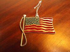 2002 Gloria Duchin Pewter American Flag Ornament