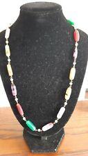 Vintage Muli Colour  Bead Necklace