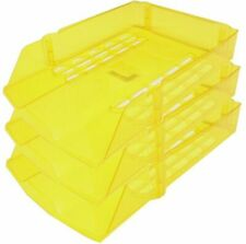 2 X Niceday A4 Yellow Letter Trays