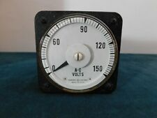 Vintage General Electric Ac Volts Meter Model 8ab