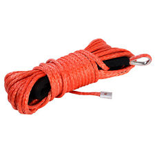 "Dyneema 50' X 1/4"" Synthetic Winch Rope Cable 5000 ATV SUV Recovery Replacement"