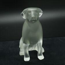 Faberge Frosted Crystal Labrador Retriever Dog Pate de Verre