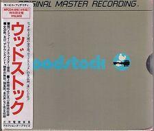 Woodstock various est MFSL SILVER 4 CD BOX NUOVO OVP SEALED Giappone Importazione con Obi