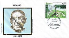 3162   FDC  ENVELOPPE 1er JOUR    PICASSO 1881 -1973 -  LE  PRINTEMPS