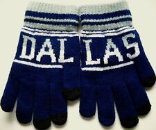DALLAS KNITTED MITTENS GLOVES IN TEAM COLORS WITH SMARTPHONE-FRIENDLY FINGER