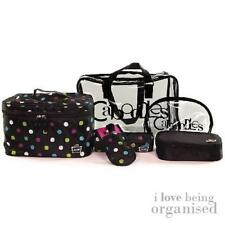 Polka Dot Travel Set w/ Clear Air Travel Bags & 4 Free Makeup Brushes