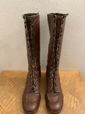 Vtg Depression Era Victorian Boots Granny Smith 1920's Lace Up Boots Women's 7