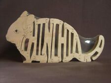 Chinchilla Wooden Amish made Scroll Saw Toy Puzzle  New