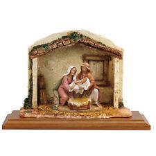 arte religiosa FONTANINI scena vita di cristo - nascita di gesù presepe pastori