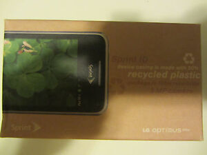 New (In Sealed Box) LG Optimus Elite for Sprint - LG696PRE - Black Smartphone