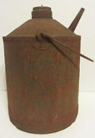 Vintage Metal Gas Can Kerosine Handlan Oil Fuel Tin
