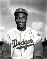 Jackie Robinson #6 Photo 8X10 - Dodgers  B&W - Buy Any 2 Get 1 FREE