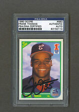 Frank Thomas signed White Sox 1990 Score Rookie baseball card Psa-Dna