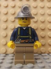 Brand New LEGO Mini Figure Miner Mining Quad Truck Mine City Collectable