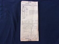 Vintage 1920's 30's Pictorial Review Sewing Pattern 8664 Misses Costume Dress