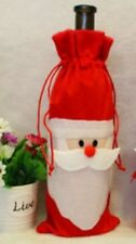 Santa Claus Wine Bottle Bag Covers Table Xmas Dinner Decor Gifts Brand New