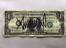 MAGA President Donald Trump Signed USA Currency Dollar Bill Autograph Signature