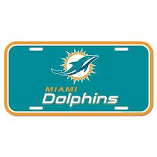 """MIAMI DOLPHINS 6""""x12"""" OFFICIAL LOGO LICENSE PLATE CAR BRAND NEW WINCRAFT"""