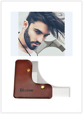 Biutee Stainless Steel Beard Mustache Shaving Comb Facial Hair Shaping Tool Gift